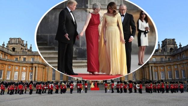 Como princesa, Melania brilla en palacio inglés...¿y dónde está la reina?
