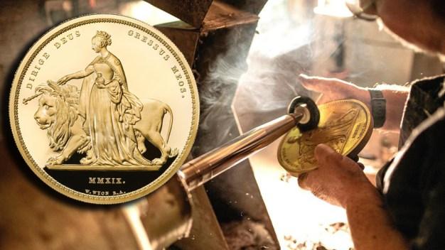 Crean exclusiva moneda gigante de unos $6,400