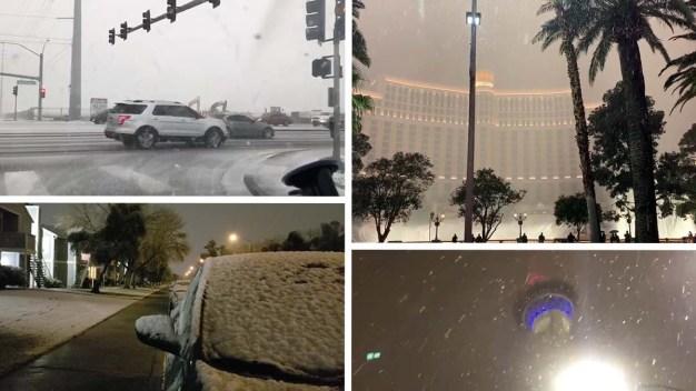Las Vegas se viste de blanco tras más de una década