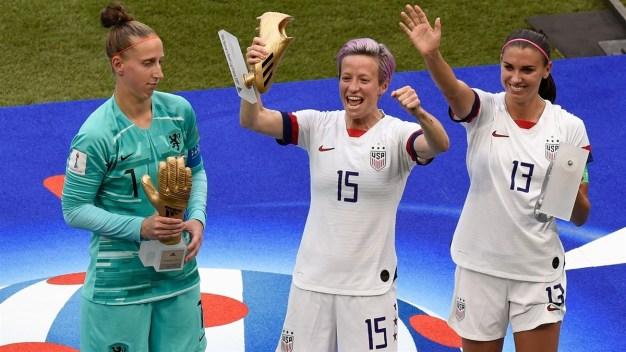 Megan Rapinoe ganó el Balón y la Bota de Oro