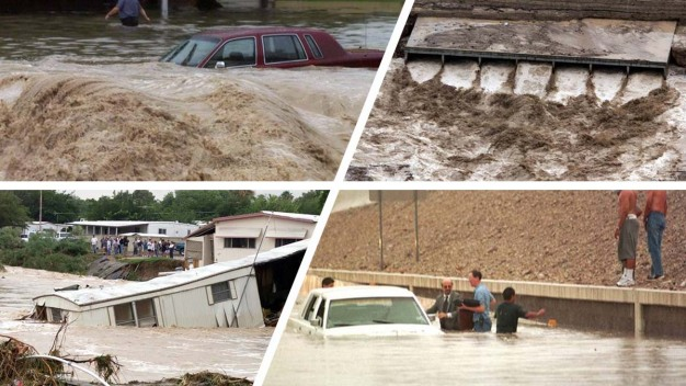 FOTOS: desastres por inundación de 100 años en Las Vegas