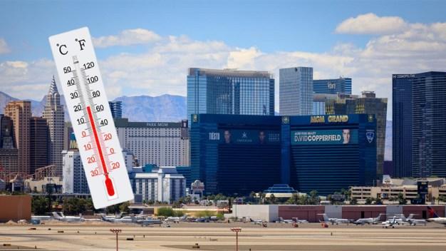 Las Vegas rompe récord de temperatura máxima baja