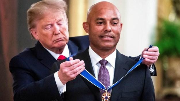 Panameño Mariano Rivera recibe Medalla de la Libertad