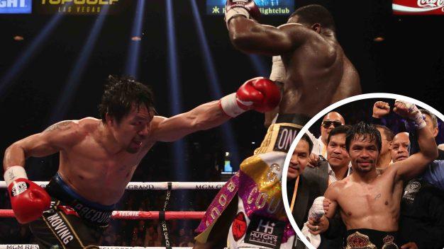 Los feroces puñetazos de Pacquiao dominan a Broner
