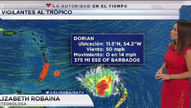 Se intensifica la tormenta tropical Dorian