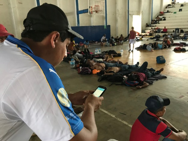 En fotos: el día a día de los migrantes de la nueva caravana que busca atravesar México