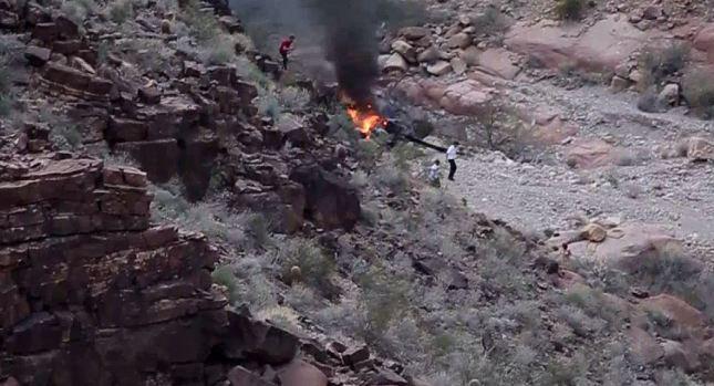 Caída de helicóptero en el Gran Cañón; hay muertos