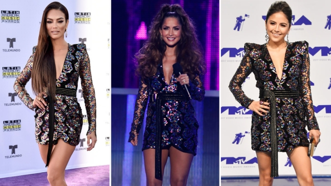 Zuleyka Rivera radiante...con el mismo vestido usado por otras famosas