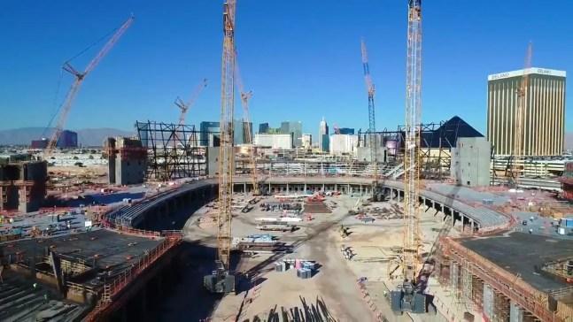 Nuevo estadio en Las Vegas va tomando forma
