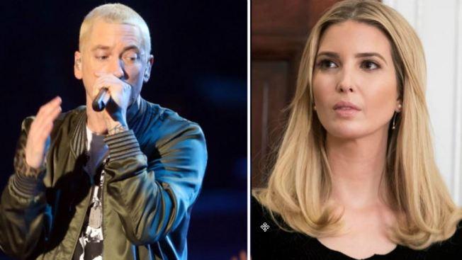 """Eminem fantasea con el """"secuestro"""" de Ivanka Trump"""