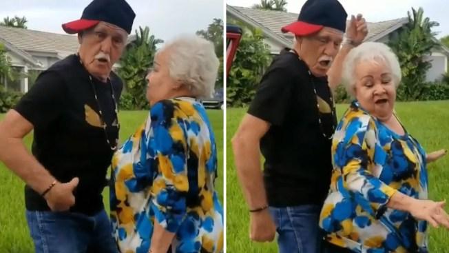 """Abuelos bailarines se suman al reto """"Kiki Challenge"""""""