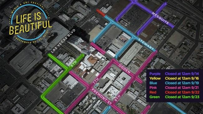 "Cierre de calles en ""Downtown"" por festival ""Life is Beautiful"""