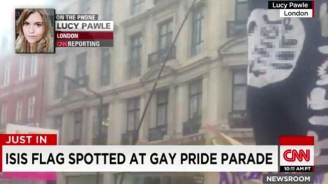 CNN confunde bandera de dildos con una de ISIS