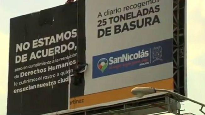 Cubren polémico anuncio en Nuevo León