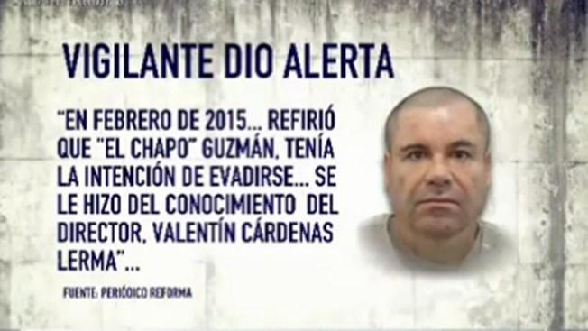 """Reporte: hubo alertas por fuga de """"El Chapo"""""""