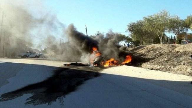 Confirman dos muertes por desplome de helicóptero en Tijuana