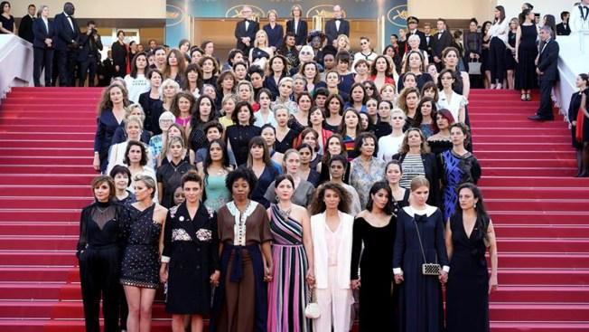 Mujeres protestan en el Festival de Cine de Cannes