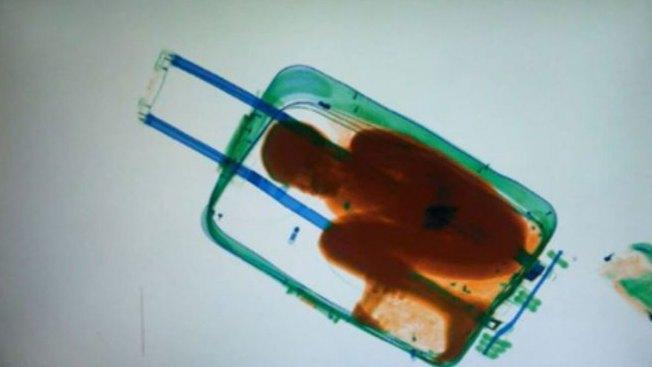 Niño en maleta ahora está con su madre