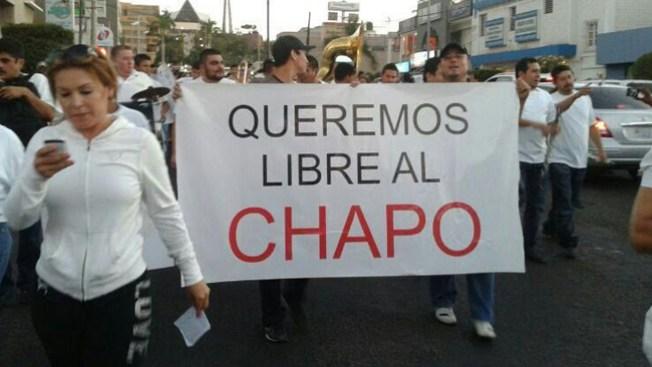 """Exigen liberación de """"El Chapo"""""""