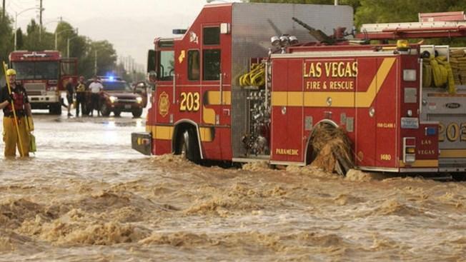 Más lluvia y tormentas en Las Vegas