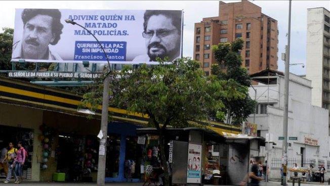 Valla de Pablo Escobar prende polémica