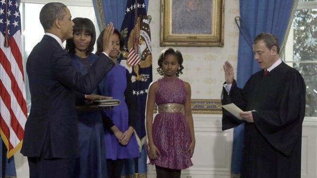 Obama se juramenta para segundo mandato