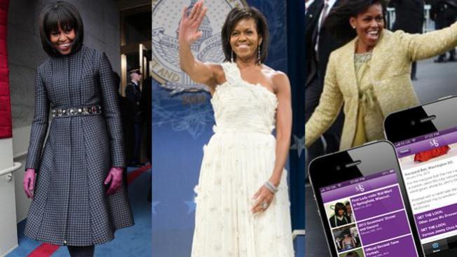"""App sigue los """"looks"""" de Michelle Obama"""