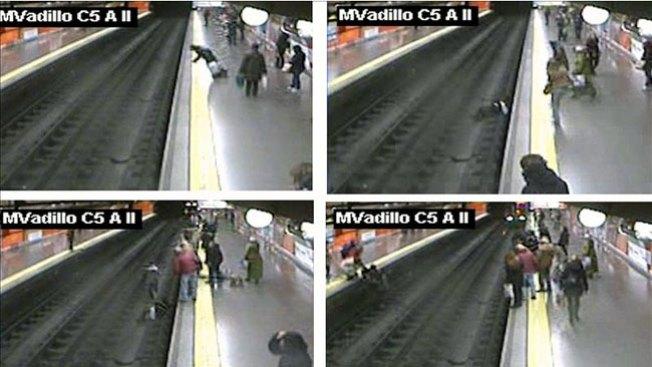 Asombroso rescate en el Metro de Madrid