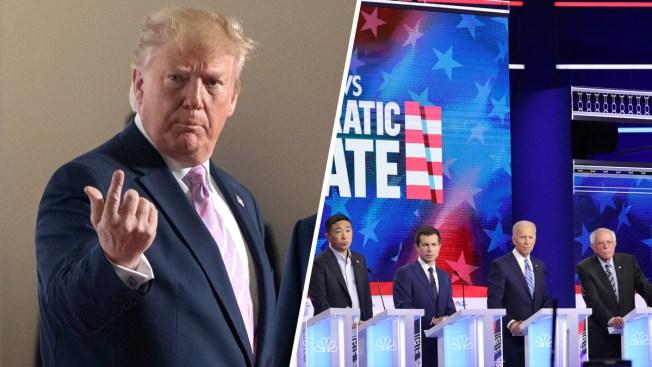 Trump no aguanta y desde Japón arremete contra los demócratas en el debate