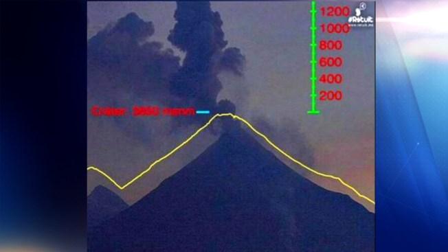 El volcán de Colima lanza fumarola de un kilómetro