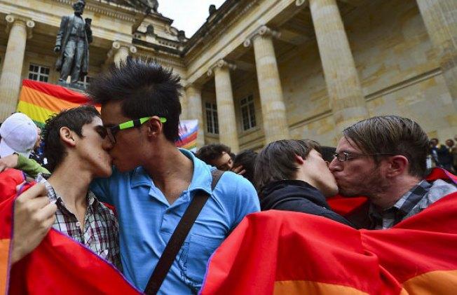 """Besatón"" gay en Colombia"