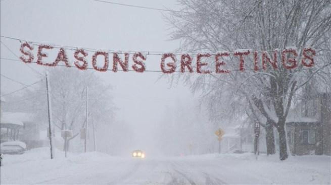 Amenaza de nieve y tornados
