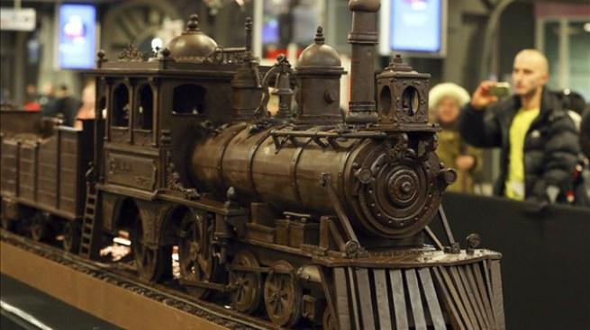 Mmmm, ¡un tren de chocolate!