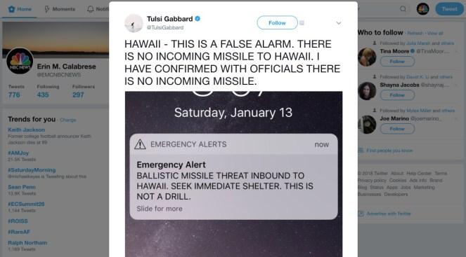 Pánico en Hawái por falsa alerta sobre ataque con misil