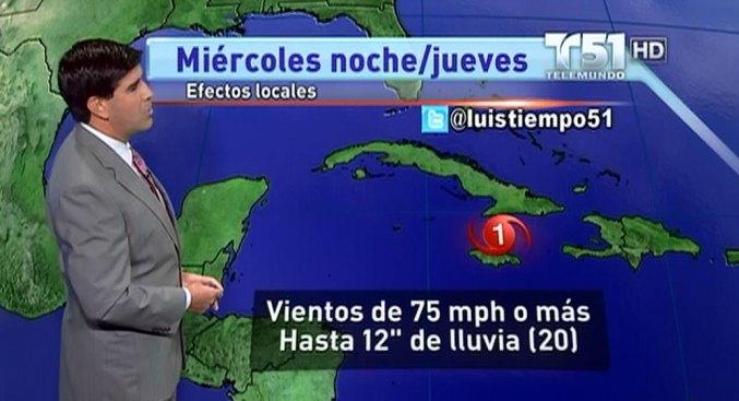 Sandy enfila hacia Cuba