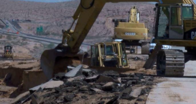Comienzan a reparar la I-15