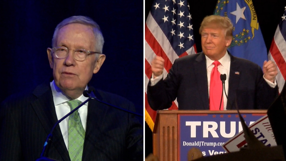 Trump se burla de accidente del senador Harry Reid